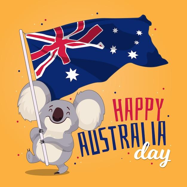 Нарисованная рукой концепция дня австралии Бесплатные векторы