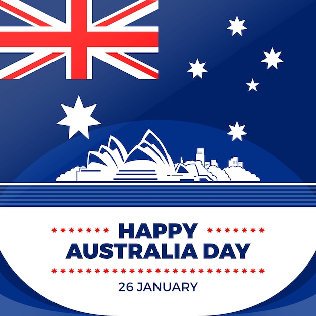 Плоский дизайн австралийского дня концепция Бесплатные векторы