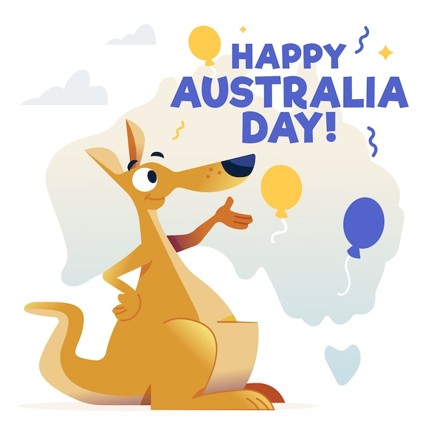 手描きオーストラリア日コンセプト 無料ベクター