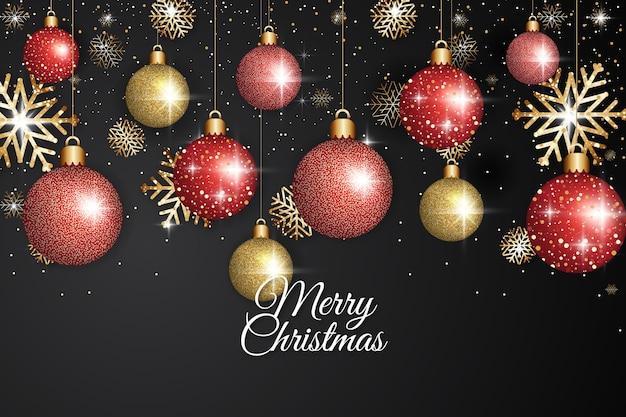キラキラ効果でクリスマスの背景 無料ベクター