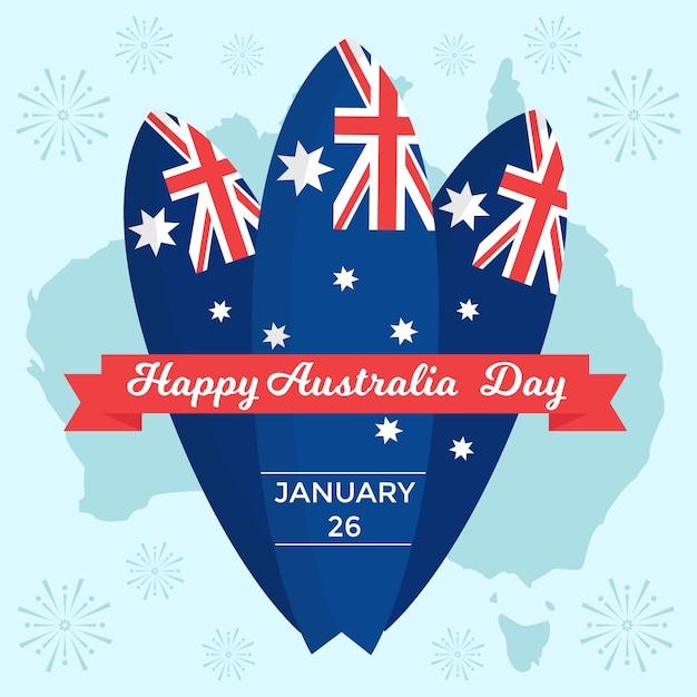 オーストラリア国立デーのテーマコンセプト 無料ベクター