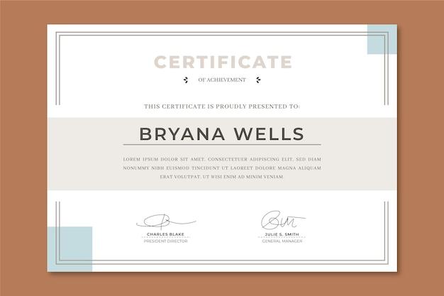 Элегантный шаблон сертификата признательности Бесплатные векторы