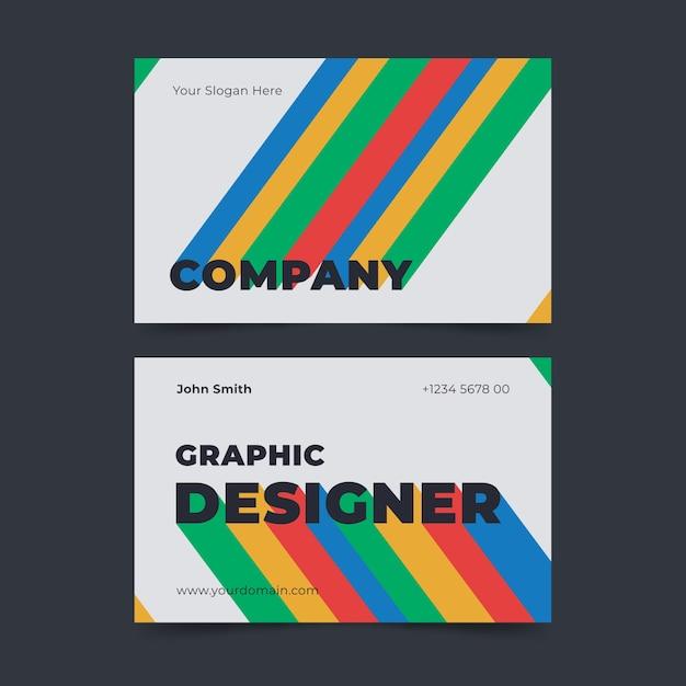 Шаблон визитной карточки креативного графического дизайнера Бесплатные векторы