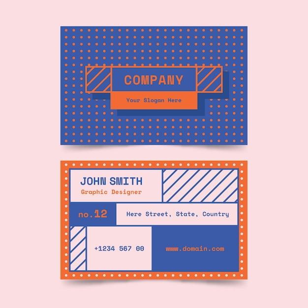 Творческая красочная визитная карточка графического дизайнера Бесплатные векторы