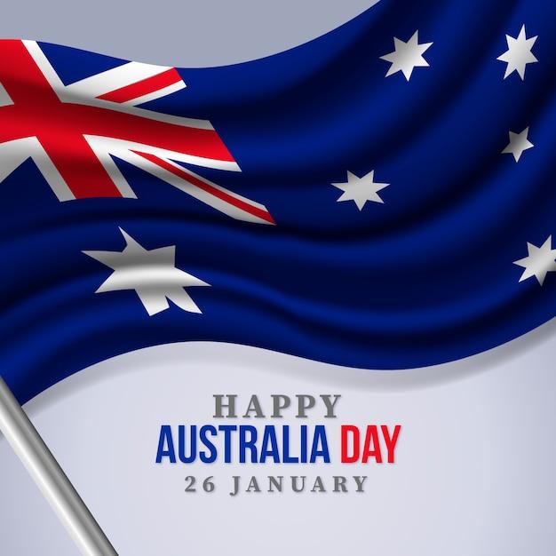 現実的なオーストラリアの日の概念 無料ベクター
