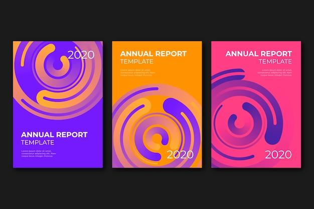 Абстрактный красочный шаблон годового отчета Бесплатные векторы