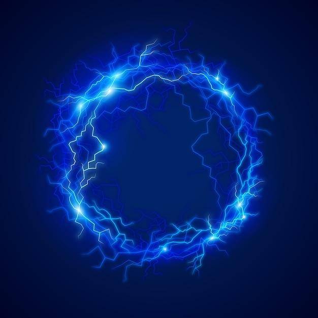 Световой эффект электрического шара Бесплатные векторы