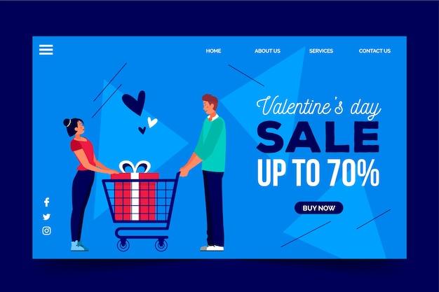 Рекламные распродажи на день святого валентина Бесплатные векторы