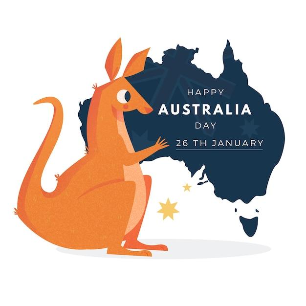 オーストラリア国立デーのコンセプト 無料ベクター