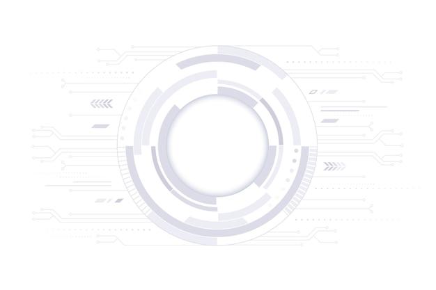 白い技術の背景 無料ベクター