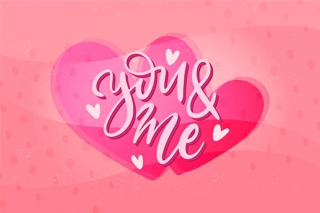 手描きのバレンタインの壁紙 無料ベクター