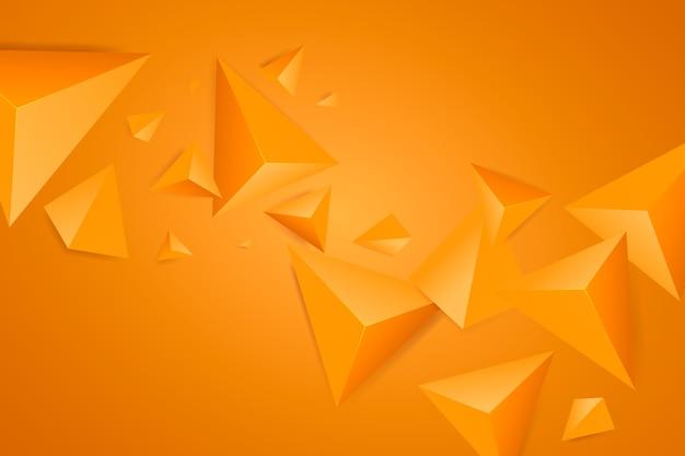 鮮やかな色とオレンジ色の三角形の背景 無料ベクター