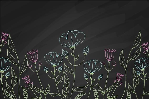 青と紫の花の背景 無料ベクター