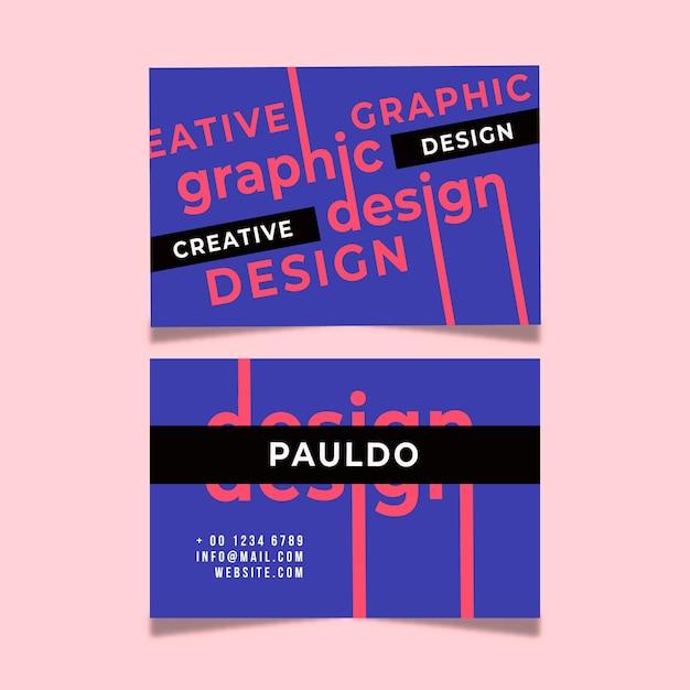 Креативный дизайн шаблона визитной карточки Бесплатные векторы