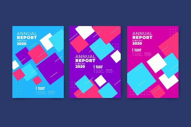 Красочный абстрактный годовой отчет Бесплатные векторы