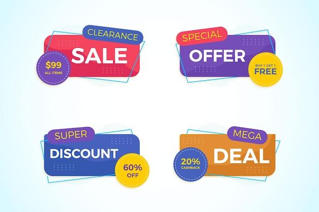 Коллекция красочных баннеров продаж Бесплатные векторы