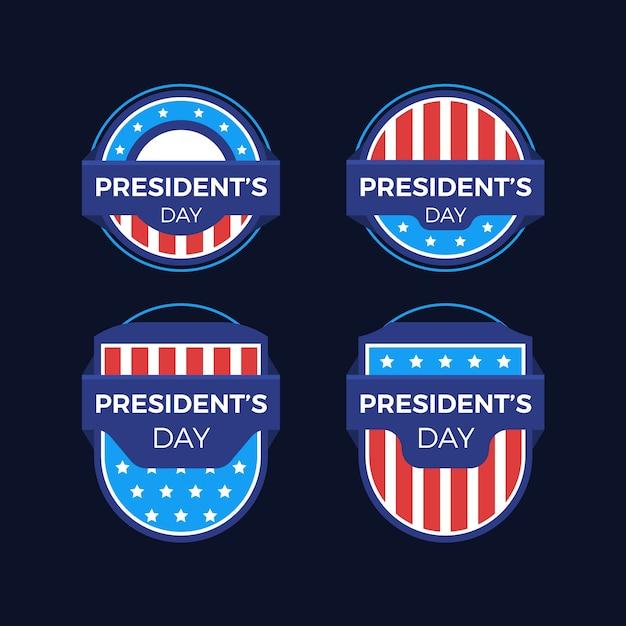 大統領の日のラベルコレクション 無料ベクター