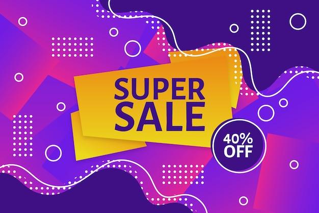 Супер распродажа красочный фон продажи Бесплатные векторы