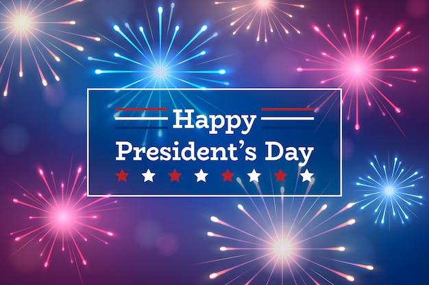 День президентов фейерверков Бесплатные векторы