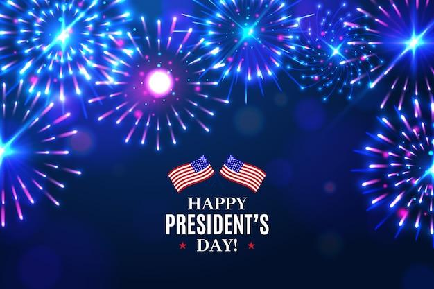 День президента фейерверков Бесплатные векторы