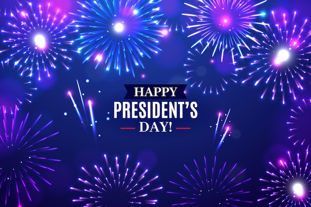 День президента фейерверков с приветствием Бесплатные векторы