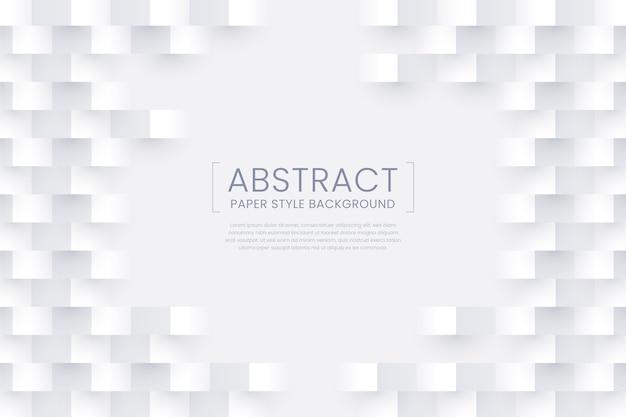 Белая абстрактная бумага стиль фона Бесплатные векторы