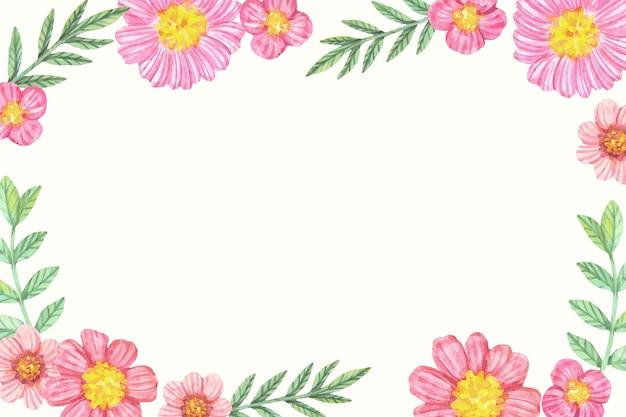 パステルカラーの水彩画の花の背景 無料ベクター