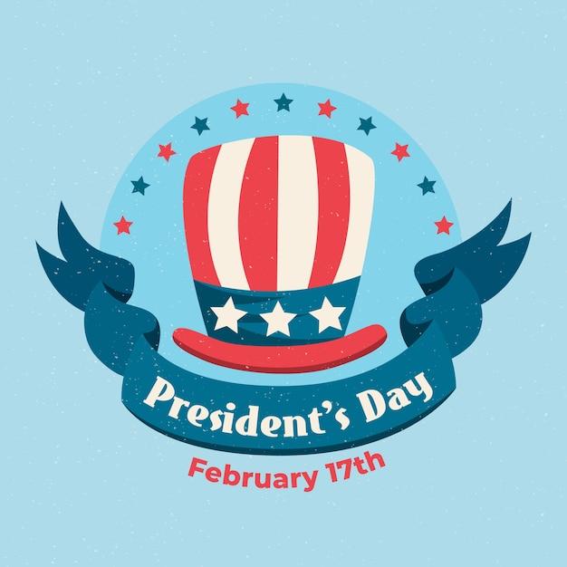 Винтажная концепция на день президентов Бесплатные векторы
