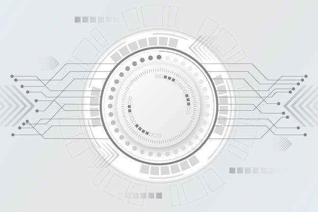 Белый технологический фон Бесплатные векторы