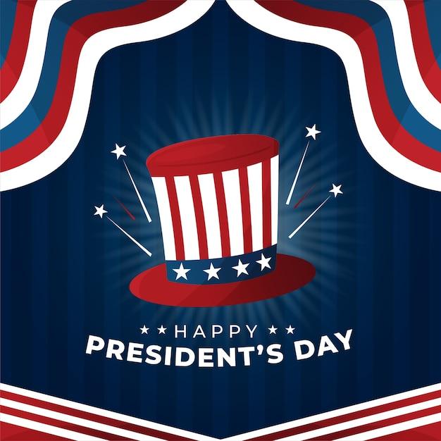 フラットデザイン大統領の日の概念 無料ベクター
