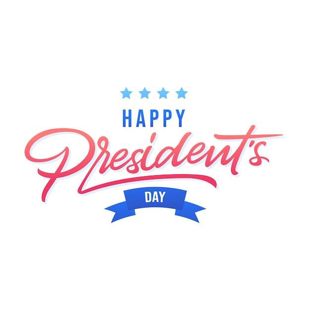 Счастливый день президентов концепции с надписью Бесплатные векторы