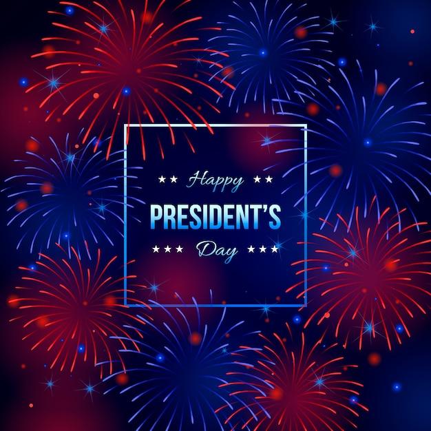 花火大統領の日の壁紙 無料ベクター