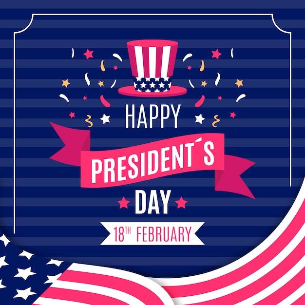Президентское красочное поздравление Бесплатные векторы