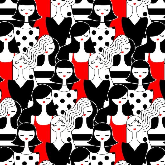 Узор тема для женского дня Бесплатные векторы