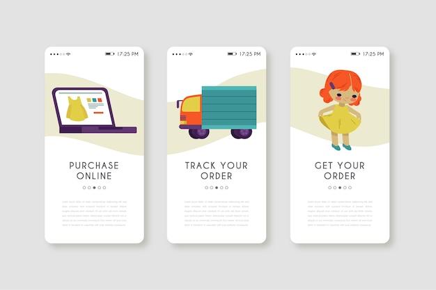 Приложение для мобильного телефона для покупки онлайн Бесплатные векторы