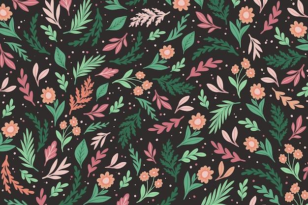 カラフルな花柄の背景 無料ベクター