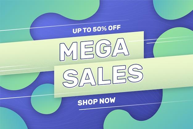 Абстрактный зеленый и синий фон продаж Бесплатные векторы