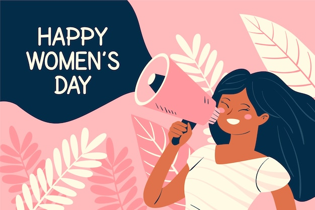 Ручной обращается женский день Бесплатные векторы