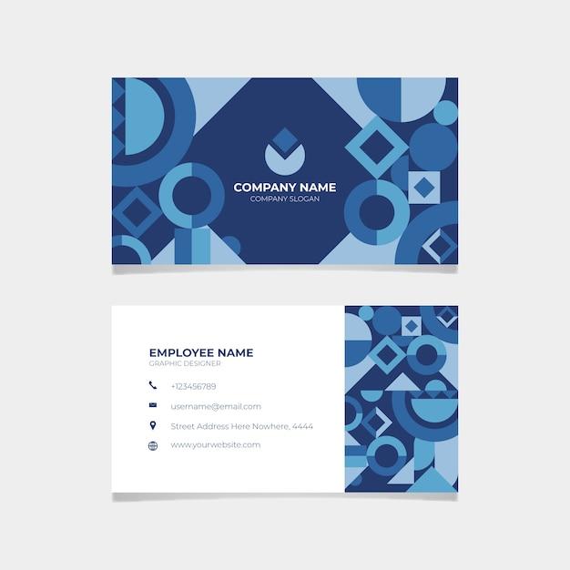 Классический синий визитная карточка Бесплатные векторы