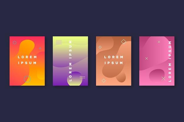 Абстрактные формы обложки коллекции Бесплатные векторы
