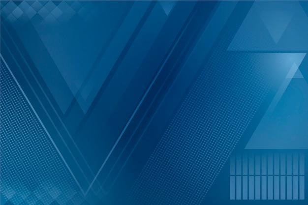 Абстрактная классическая голубая тема для обоев Бесплатные векторы