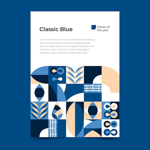 Абстрактный классический синий постер шаблон Бесплатные векторы