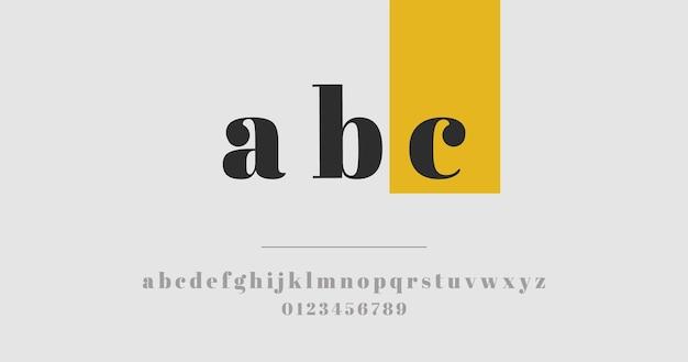 Элегантная концепция минимального алфавита Бесплатные векторы