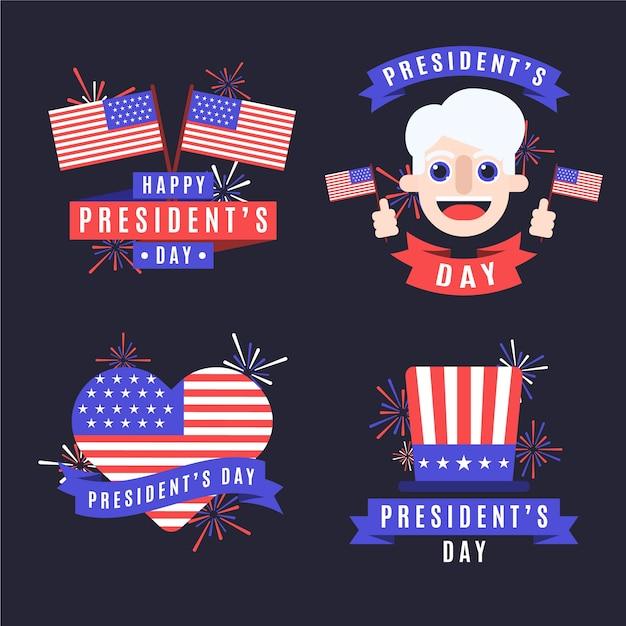 Коллекция президентов на день президентов Бесплатные векторы