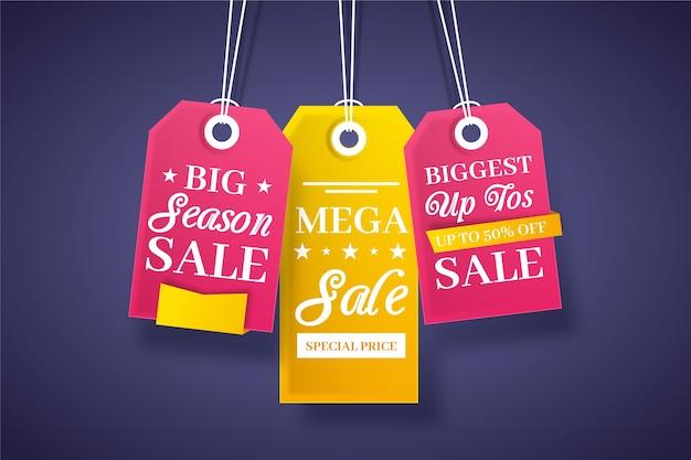 Набор наклеек для сбережений на конец года Бесплатные векторы