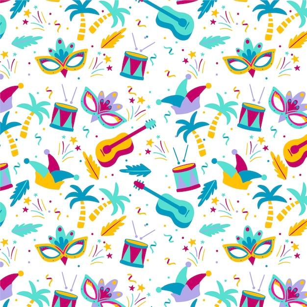 Красочный бразильский карнавал Бесплатные векторы