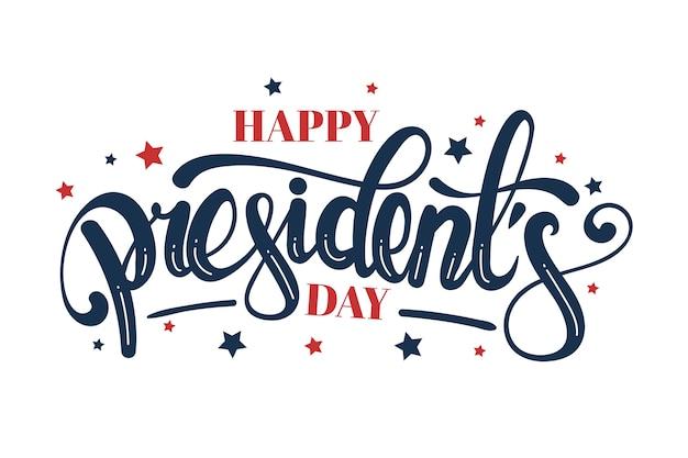 Красочные надписи президентский день Бесплатные векторы