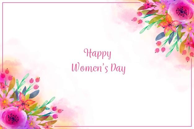 Акварельная концепция для женского дня Бесплатные векторы