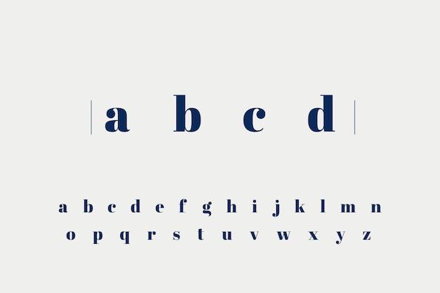 Элегантный минимальный алфавит Бесплатные векторы