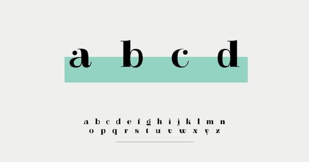 Минимальный элегантный алфавит Бесплатные векторы